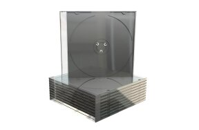 BLACK SLIM CASE CD PACK/10